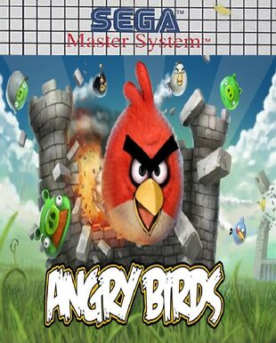 Angry Birds SEGA Master System Cover