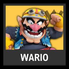 Super Smash Bros. Strife character box - Wario