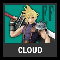 Super Smash Bros. Strife character box - Cloud