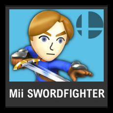 Super Smash Bros. Strife character box - Mii Swordfighter