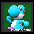 ACL Mario Kart 9 character box - Cyan Yoshi