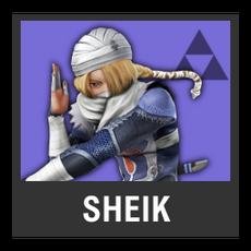 Super Smash Bros. Strife character box - Sheik