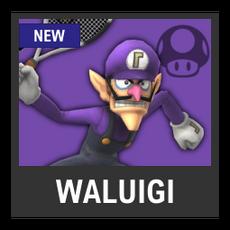 Super Smash Bros. Strife character box - Waluigi