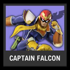 Super Smash Bros. Strife character box - Captain Falcon
