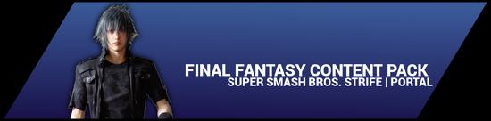Super Smash Bros. Strife portal image - Final Fantasy DLC