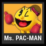 Super Smash Bros. Strife character box - Ms. Pac-Man