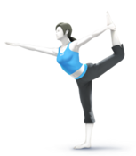 SSB4U3D Wii Fit Trainer