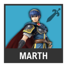 Super Smash Bros. Strife character box - Marth