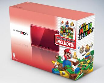 Flame Red Nintendo 3DS Super Mario 3D Land Bundle