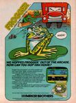 Frogger Ad Parker Brothers