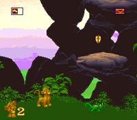 The Lion King SNES captura nivel