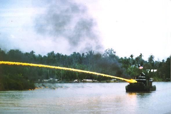 File:US riverboat using napalm in Vietnam.jpg