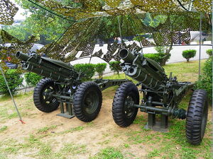 Two M116 75mm Howitzers in Chengkungling 20111009