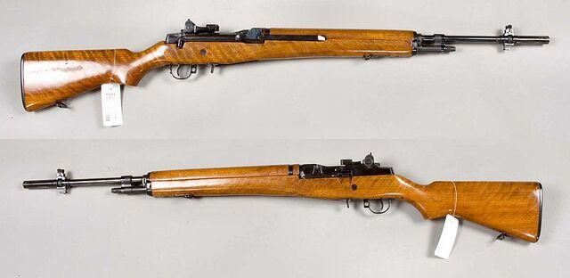 File:M14 rifle - USA - 7,62x51mm - Special presentation rifle, Serial No 0010 - Armémuseum.jpg