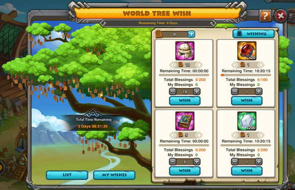 World Tree Wish Event