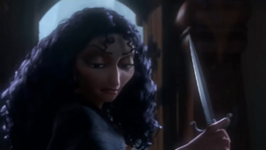 Mother Gothel demonstrating her evil power