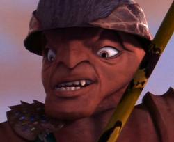 General Mandible's evil grin