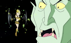 The Goblin King scolding Princess Willow