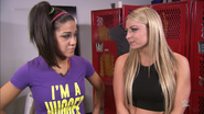Bayley and Emma Backstage