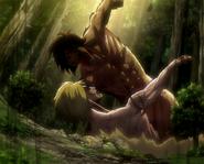 Eren fights annie