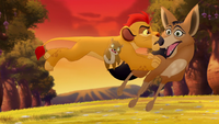 Reirei attacked by Kion