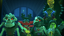 Cryptor, Kozu, Chen, Samukai and Morro (Day of the Departed)