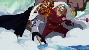Shanks Saves Coby From Akainu