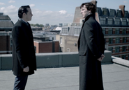 Moriarty and Sherlock Rooftop