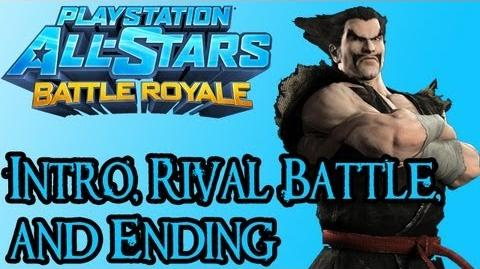 Playstation All Stars Battle Royale - Heihachi Intro, Rival Fight, and Ending
