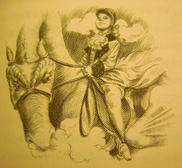 Hortense rides Skydancer