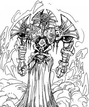 A lineart of Nitemare