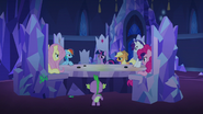 The changelings in the forms of Twilight and her friends