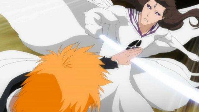 File:Ichigo blocks Aizen's attack.jpg