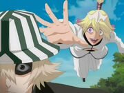 Wonderweiss attacking Urhara but his hat