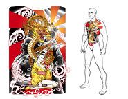 Ronin Tattoo Concept Art