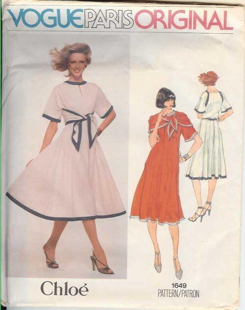 W-1649V Chloe 1970s Dress