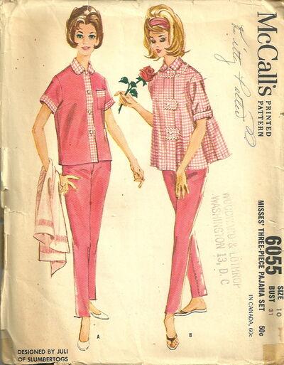McCalls 6055 Pajama Set