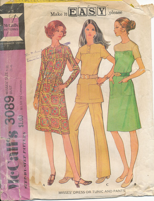 1972 McCall's 3089 size 12