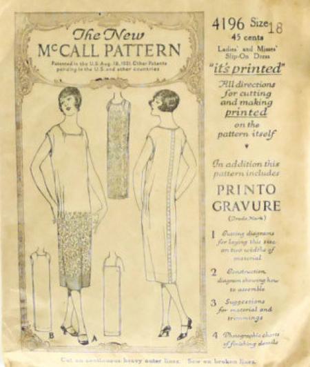 McCalls Sewing Pattern 4196