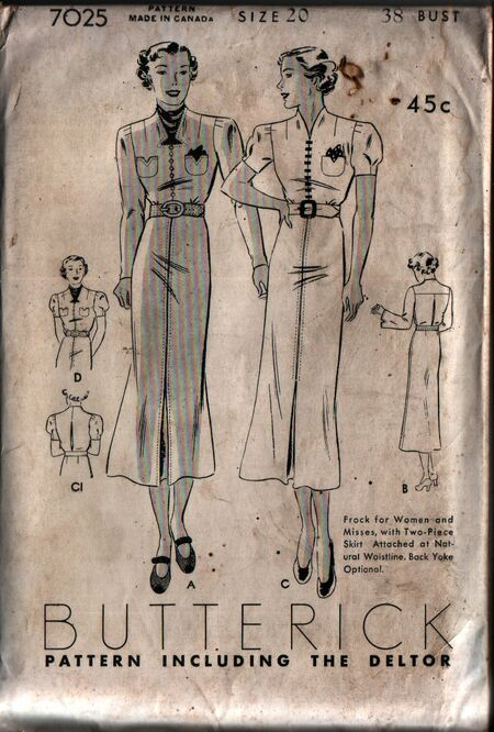Butterick 7025 front