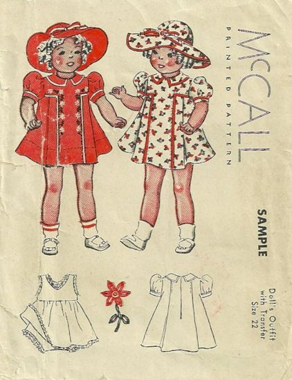 McCall Sample Doll A