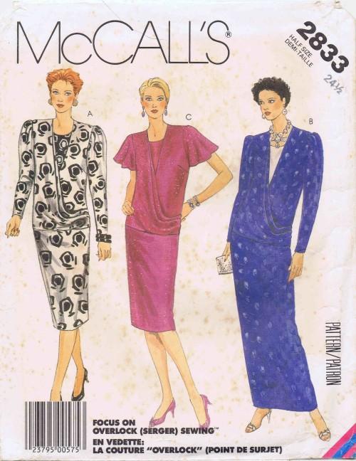 McCalls 1986 2833