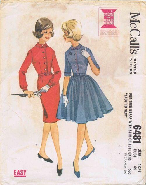 McCalls 1962 6481