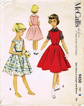 McCall's 1953 9450 F Size 8