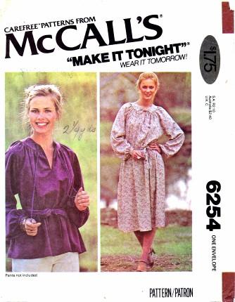 McCalls 6254