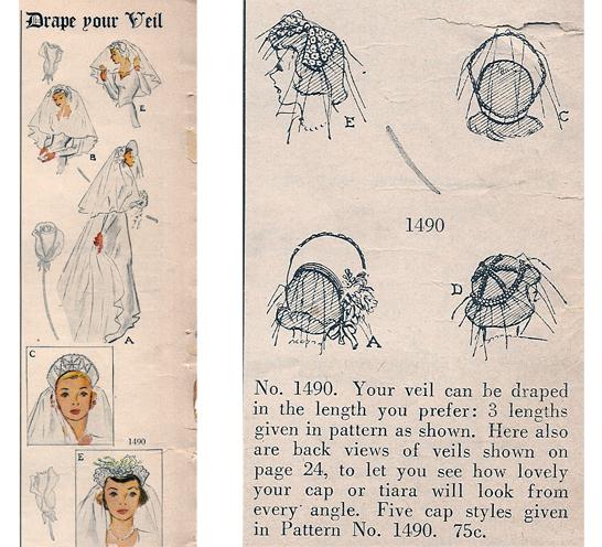 McCall Wedding Veil Pattern b