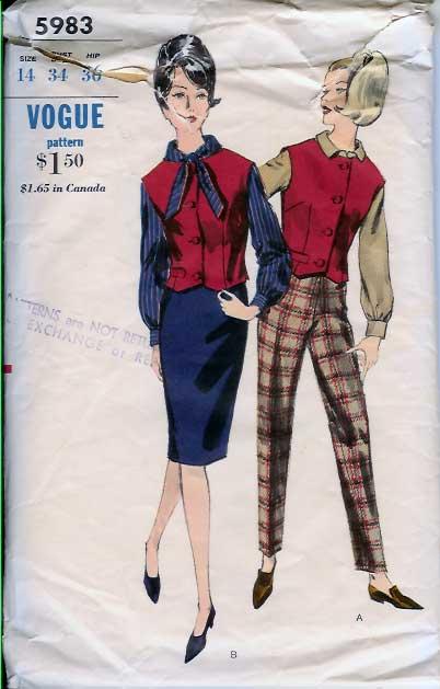 W-5983 1960s Vest-Skirt,-pa