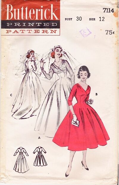 1950's Butterick 7114 front