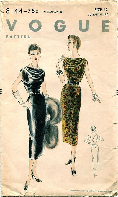 Vogue 8144 Original Sewing Pattern at DesignRewindFashions Design Rewind Fashions on Etsy a
