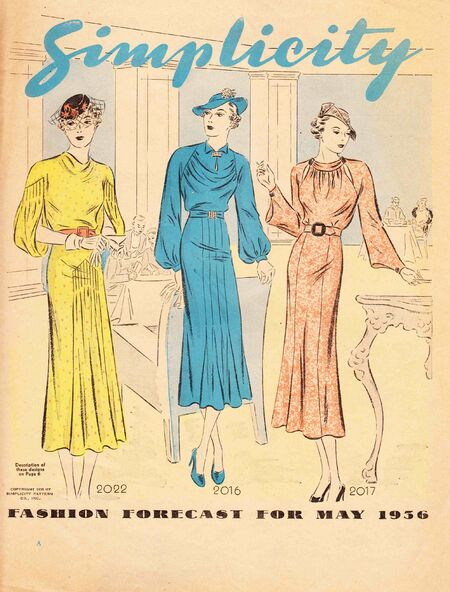 Simplicity Fashion Forecast May 1936